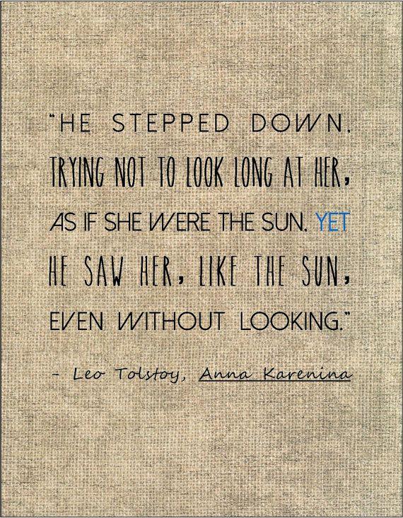 Tolstoy Anna Karenina Literary Quote Love By Jenniferdare