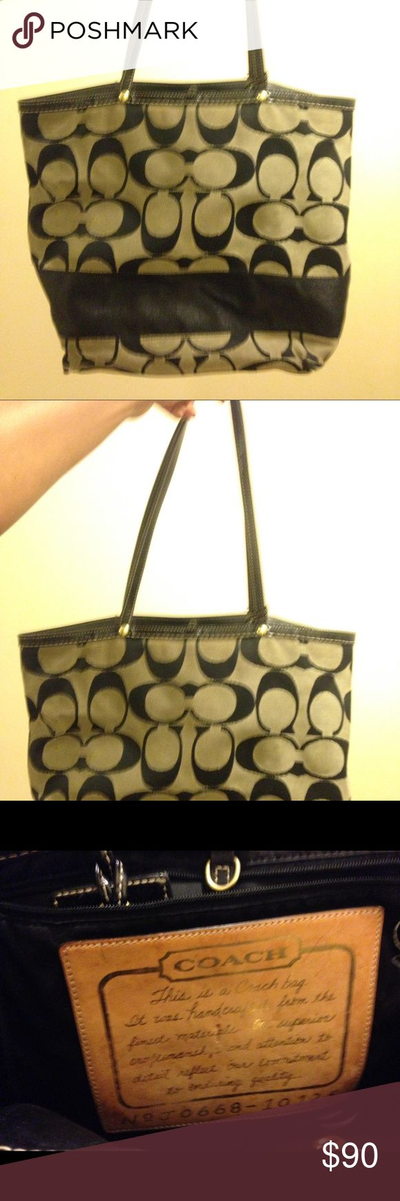 Coach Tote Bag / Purse cut on one side inner side that can be patch up besides that great condition Coach Bags Totes