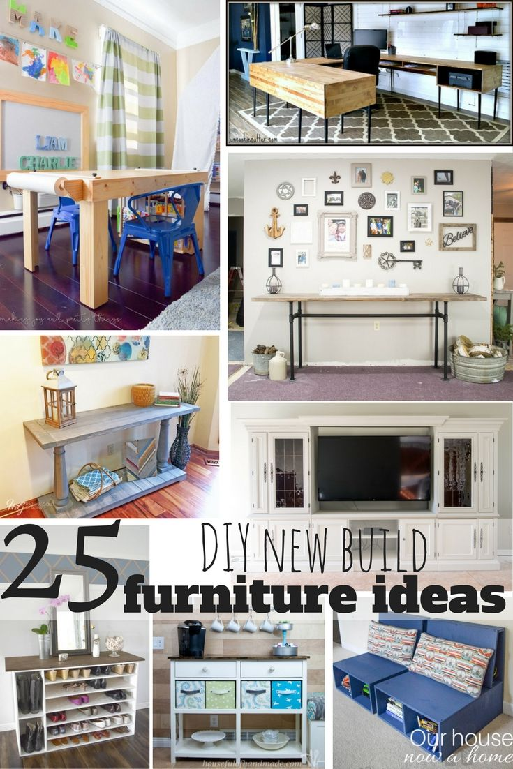 25 DIY new build furniture ideas - Simple tutorial and easy to follow instructions. Adding storage and function to your home with these custom furniture ideas. Keeping the cost low to decorate!