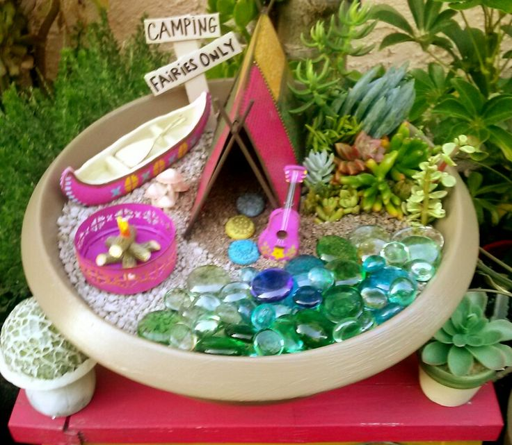 Fairy Garden Camping Theme Miniature Items From Studio M