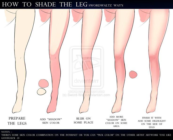 HOW TO SHADING THE LEGS by Sword-Waltz.deviantart.com on @DeviantArt
