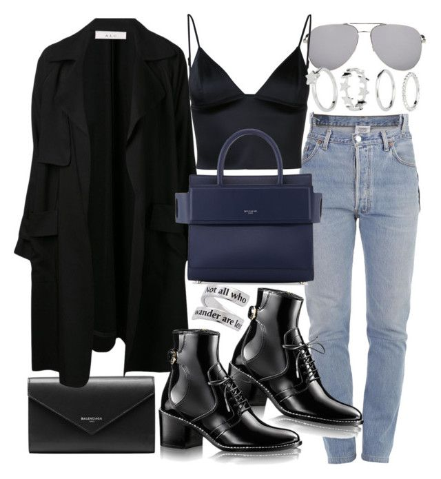 """Untitled #20862"" by florencia95 ❤ liked on Polyvore featuring Yves Saint Laurent, Vetements, Balenciaga, T By Alexander Wang, A.L.C. and Givenchy"