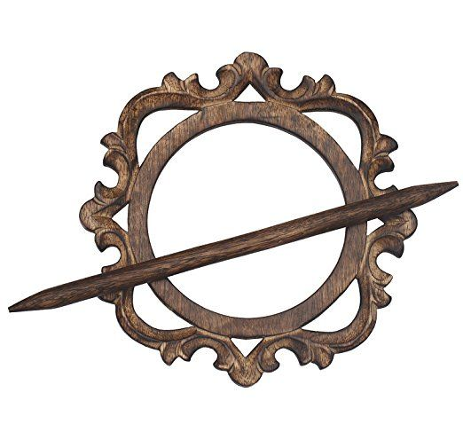 Amazon.com: SouvNear Hand Carved Drapery Curtain Holder Tiebacks Holdbacks Drape Binds Handmade Wooden Distressed Brown Decorative Curtain Holder: Home & Kitchen