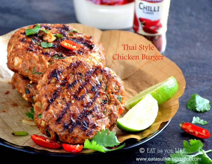 Thai Chicken Burgers by eatasyoulike #Burgers #Chicken #Healthy