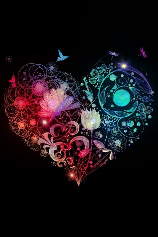 pretty heart designs wallpapers - photo #2