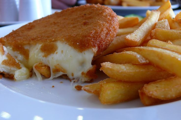 Vyprazany syr – the fried cheese. It's a  big slice of cheese (a hard one such as Edam or Emmentaler) breaded with flour, egg and breadcrumbs and then fried