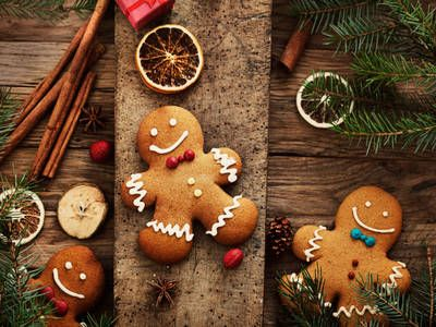 There's nothing like a classic gingerbread man cookie for the holiday season! Use a piping bag to create the face and clothing of the gingerbread man before serving.