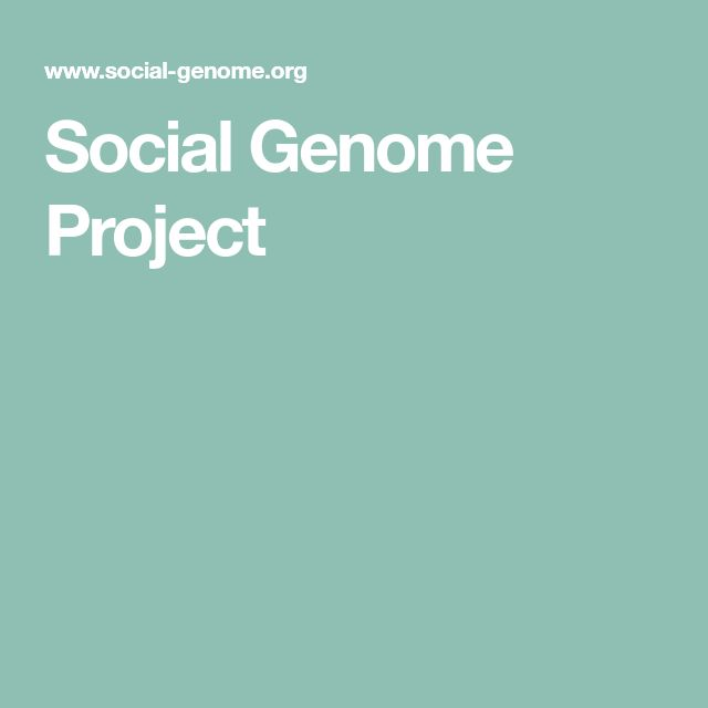 Social Genome Project