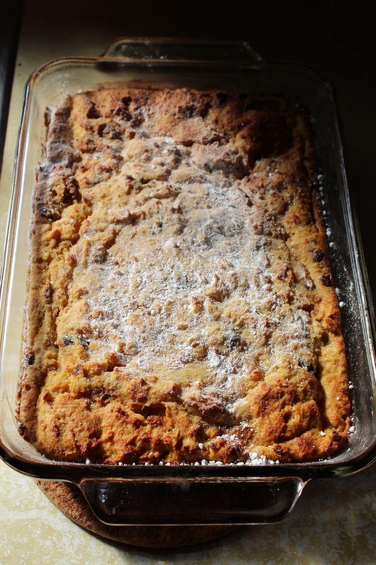 broodpudding met ... appel en kaneel of chocolade en hazelnoot of banaan en kokos of  abrikozen en rozijn of met koffie