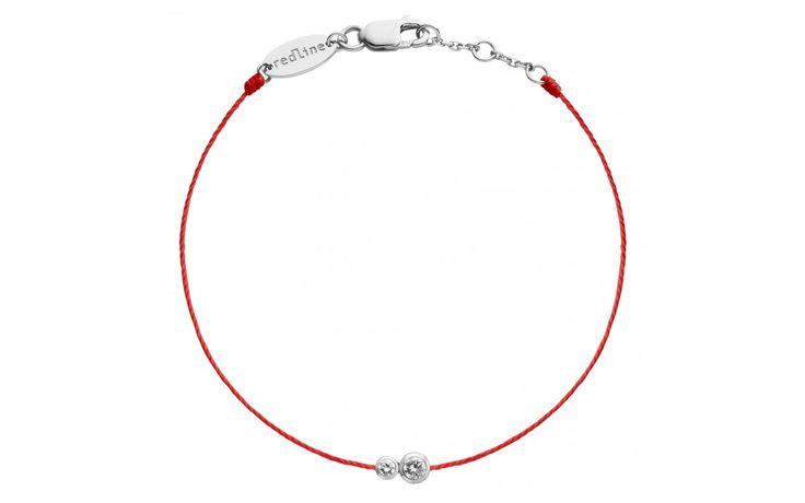 RedLine Bijoux INFINITE BRACELET FIL Or Blanc Diamant