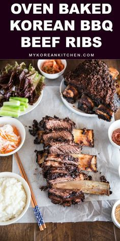 Oven Baked Korean BBQ Beef Ribs | http://MyKoreanKitchen.com