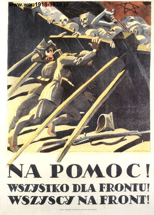 Polish-Soviet War (1919-21). Poland poster | ^ https://de.pinterest.com/0xnnrzjvogkc7xf/russo-polish-war/