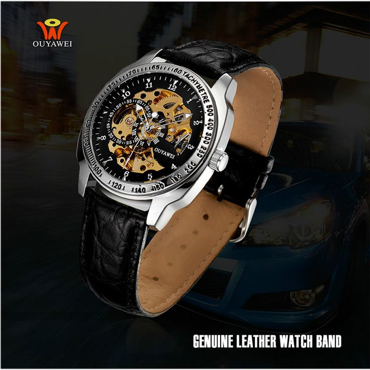 Rotate Bezel Auto Date Mens Watch Clock luxury Brand OUYAWEI men Automatic Mechanical Watch Relogio Masculino-in Mechanical Watches from Watches on Aliexpress.com | Alibaba Group