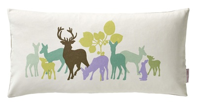 Susanne Schjerning cushion Deer in the Woods