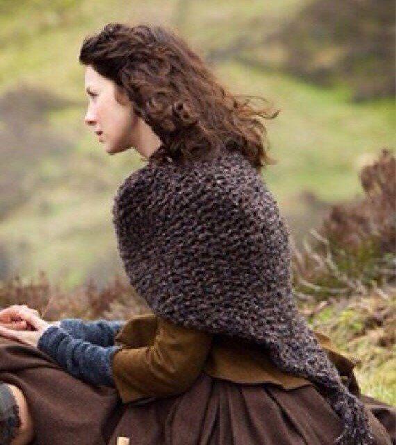 Outlander Knitted Shawl Wrap Cape // The Sassenach by OliveandArrowKnits on Etsy https://www.etsy.com/listing/206388430/outlander-knitted-shawl-wrap-cape-the