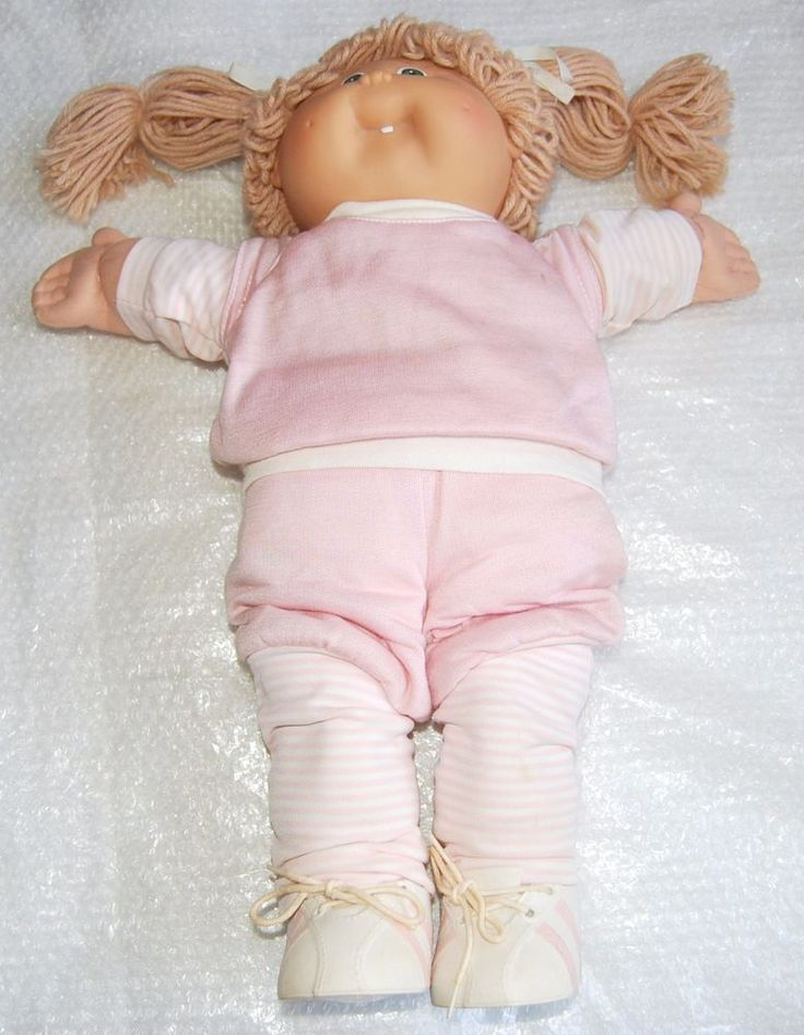 VINTAGE COLECO CABBAGE PATCH DOLL - XAVIER ROBERTS - CLOTHES - GREEN EYES