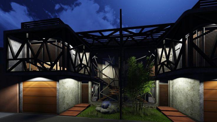 Living Place / House, Interior / Exterior Nigh Render - https://interiordesign.io/living-place-house-interior-exterior-nigh-render-2/