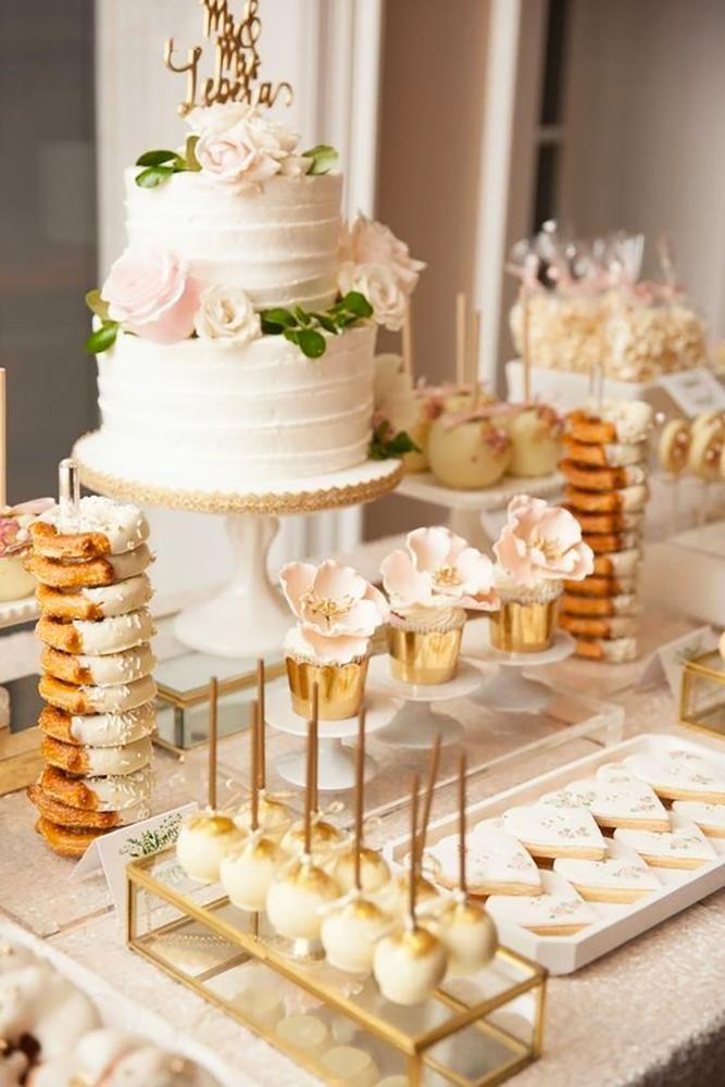 42 Wedding Dessert Table Ideas For Every Theme Wedding Dessert Table Wedding Dessert Table Decor Wedding Cake Table