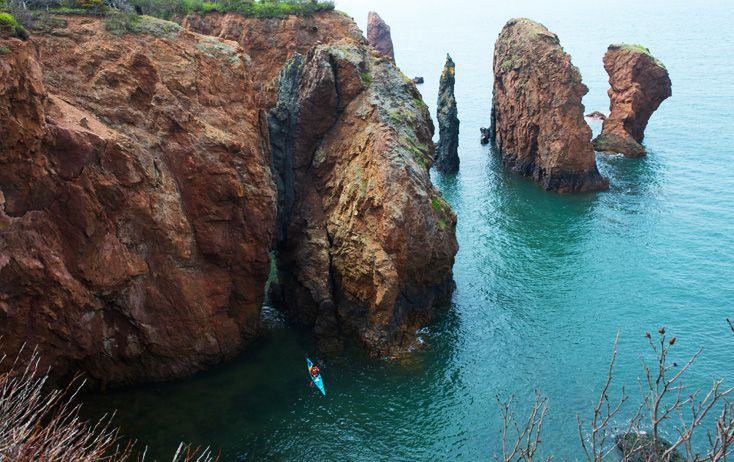 The Bay of Fundy is home to the highest tides on the planet. Walk the ocean floor and then hours later, kayak above it