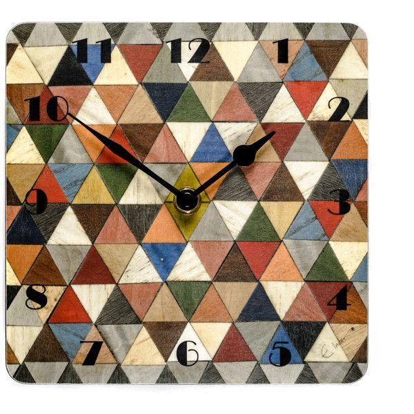 Orologio da parete orologio da parete geometrica Art Deco parete... (€22) ❤ liked on Polyvore featuring home and home decor