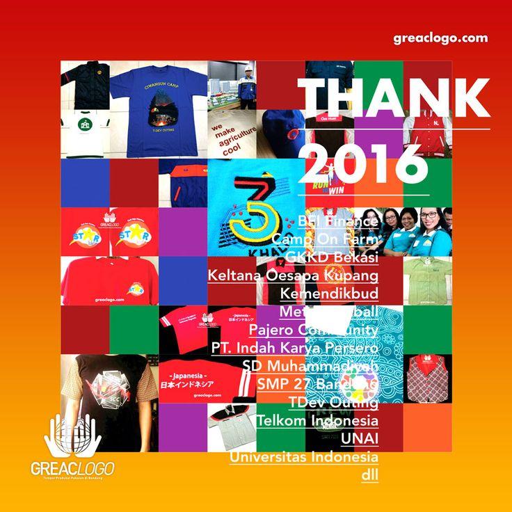 Terima kasih banyak untuk para customer greaclogo di tahun 2016, semoga di 2017 kami bisa lebih baik dalam berbagai hal, baik seputar b...