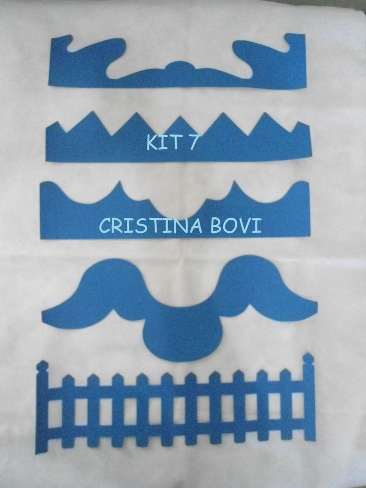 Kit réguas para barrados   Cristina Bovi   Elo7