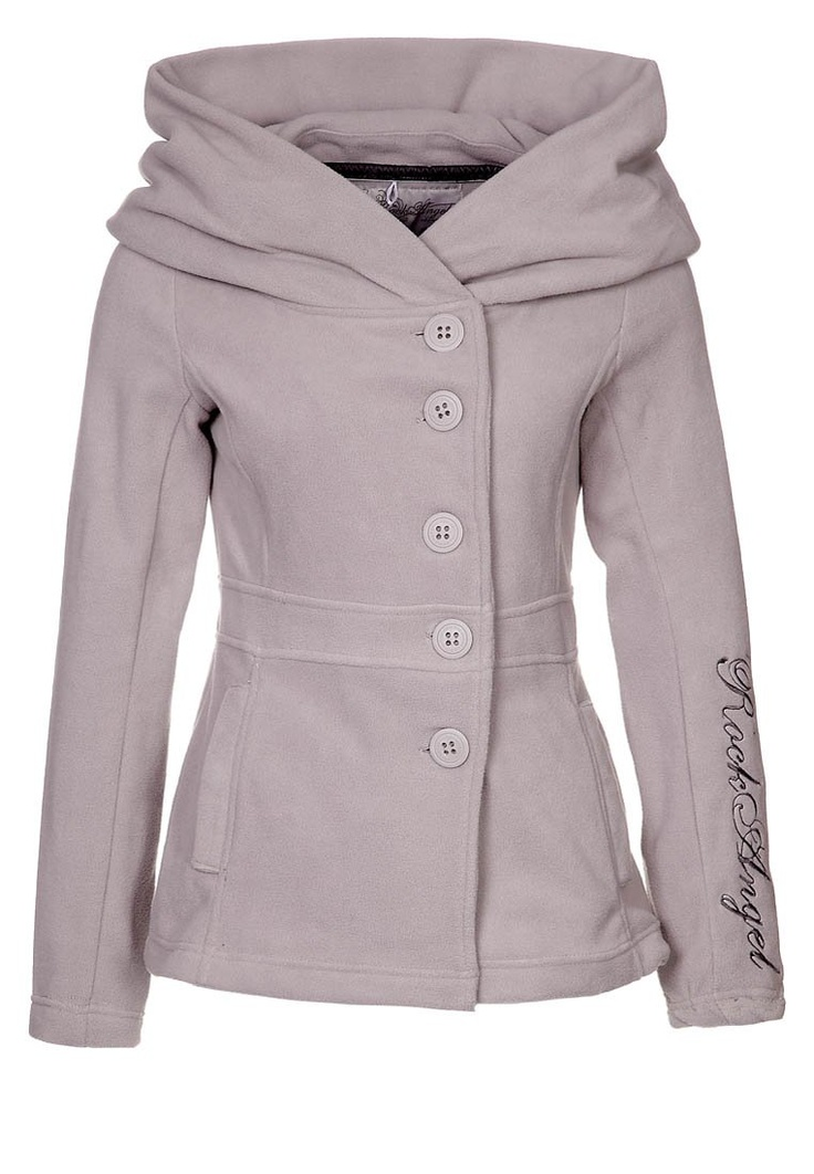 This looks super cozy! and I love the asymetrical button up wiht over sized, large hood/ neck line!
