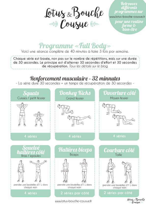 "Programme health ""Full Physique"" à la maison"