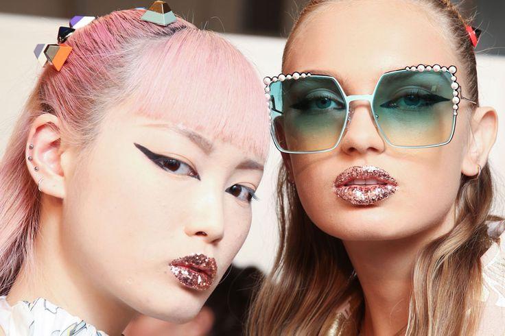 glitter lips Fendi RTW 2017 Spring/Summer