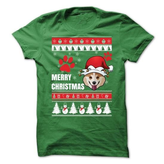 Awesome Tee Merry Christmas With Welsh Corgi T-Shirts