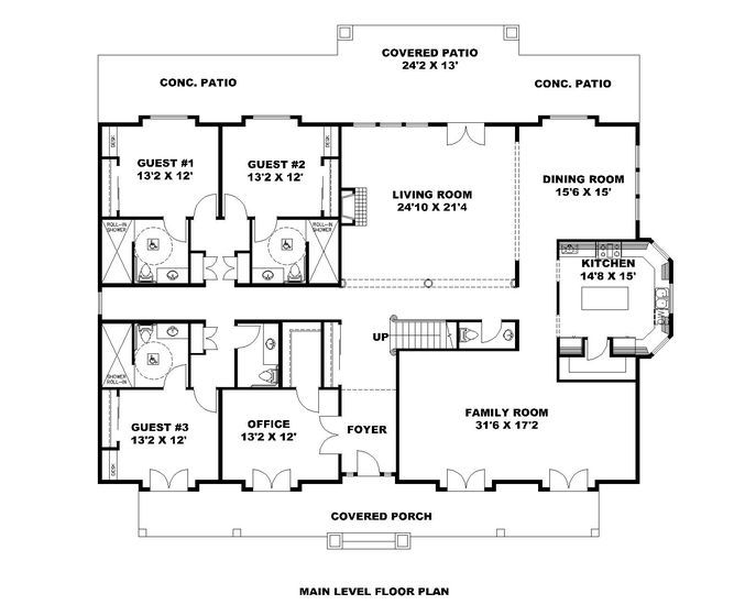 Hpm Home Plans Home Plan 001 3600 Square House Floor Plans House Floor Plans Floor Plans