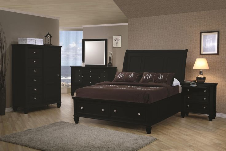 Coaster Sandy Beach King Sleigh Bed with Footboard Storage - Coaster Fine Furniture