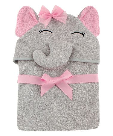 Another great find on #zulily! Pretty Elephant Animal Hooded Towel - Infant #zulilyfinds
