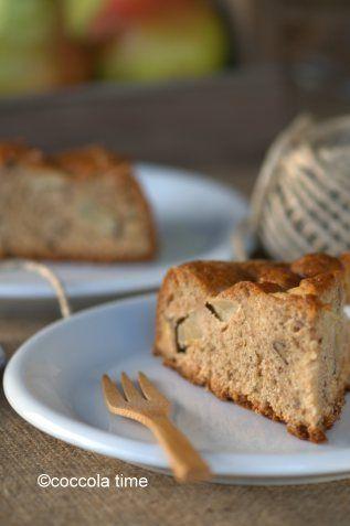 Torta rustica integrale di pere, noci e cannella