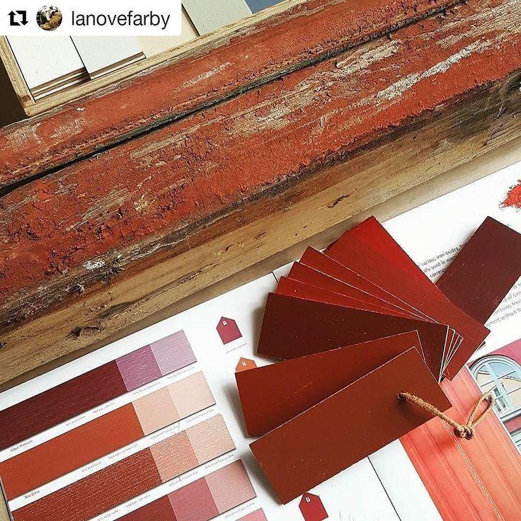 Ktora cervena na hrazdenie secesnej vily do Tatier? #lanovefarby #nasaobnova #vilalavina #cervena #red #obnovaobchod