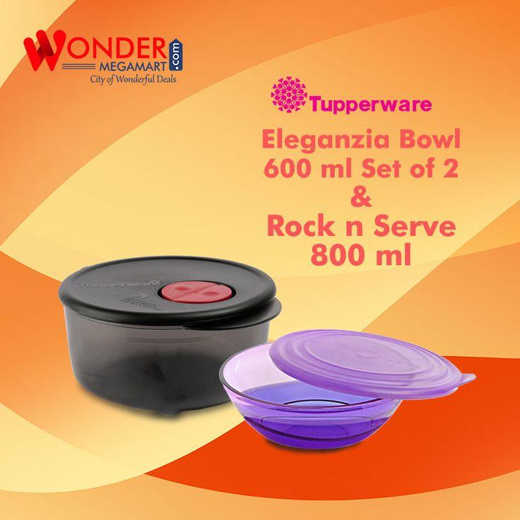 Best Tupperware Eleganzia Bowl 600ml Set of 2 & Rock n Serve 800ml…