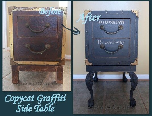 Copycat Graffiti Side Table DIY