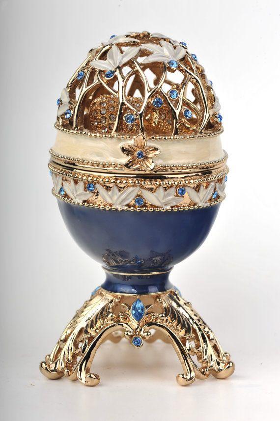 Faberge STYLED Egg Box with a Golden Elephant by Keren Kopal by KerenKopal on Etsy♥♥