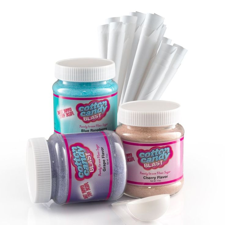 Cotton Candy Blast Cotton Candy Floss Sugar Kit - Blue Raspberry, Cherry and Gra #CottonCandyBlast