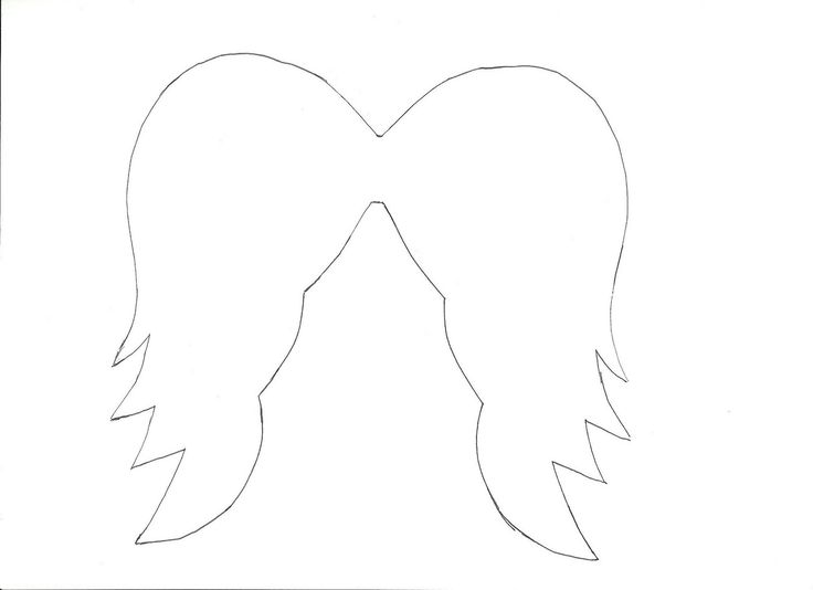 angel wing cut out template - photo #19