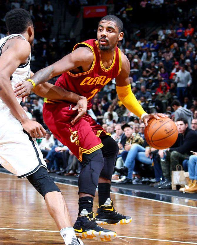 fddb1c1a5496 ... wearing a Navy Yellow Nike Kyrie 2 PE (1)  SoleWatch  Kyrie Irving s  New Nike Kyrie 2 for Brooklyn . ...