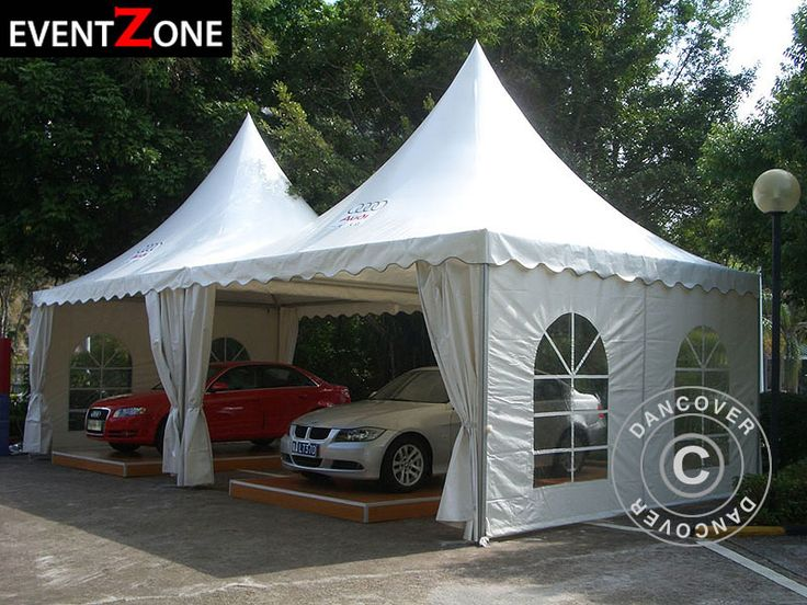 PAGODA TENT PRO + 5X5 M. EVENTZONE Professional rental quality marquee.