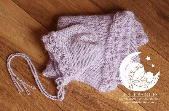 Amy newborn wrap and bonnet set  luxury by LittleRaritiesStudio