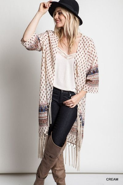 Perfect for those cooler late summer nights or summer to fall transistion-Makes the best swimsuit cover up! You name it this kimono is veratile and the colors go with anything! Boho up your wardrobe t