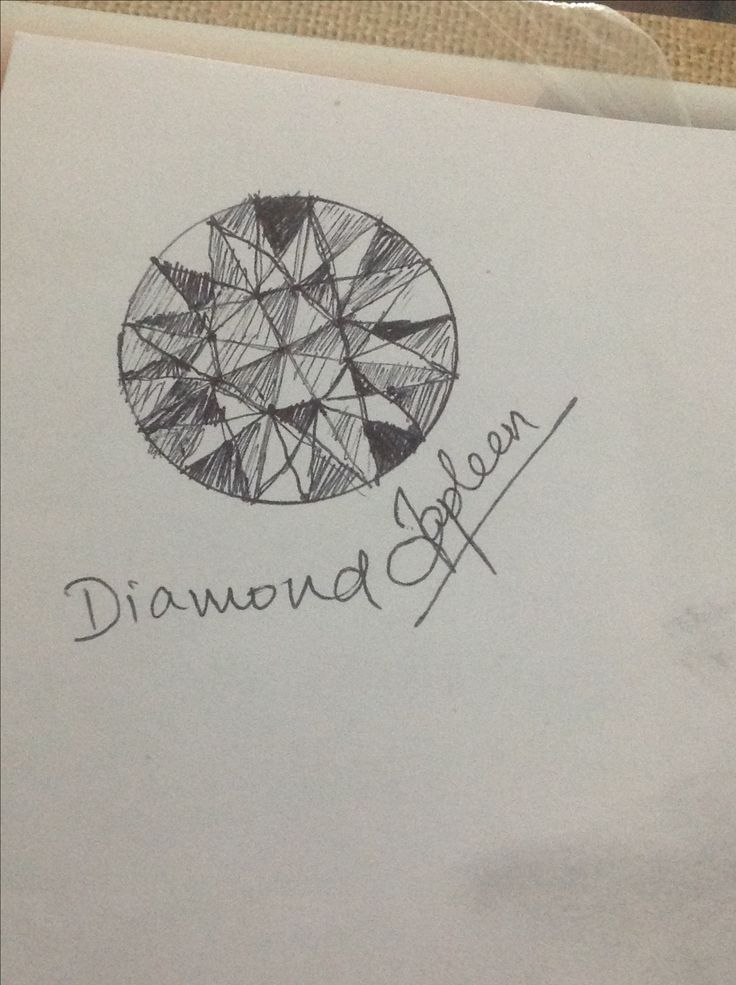 I tried to make top view of diamond