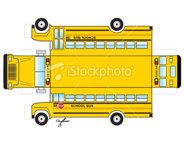 this is a school bus that can be cut out and glued taped to become a
