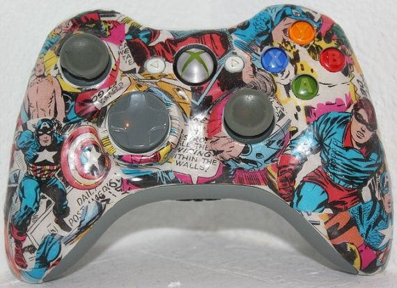 Custom Xbox 360 Wireless Comic Controller
