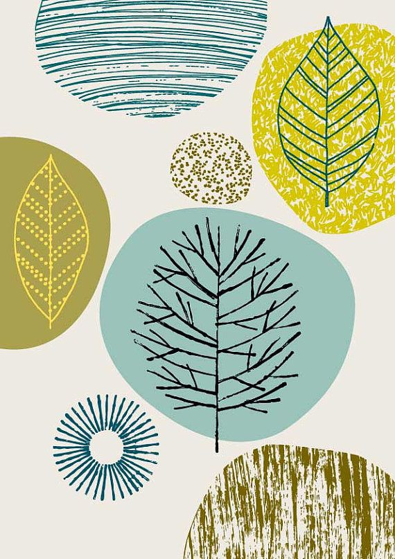 Nature No5 limited edition giclee print por EloiseRenouf en Etsy, $25.00