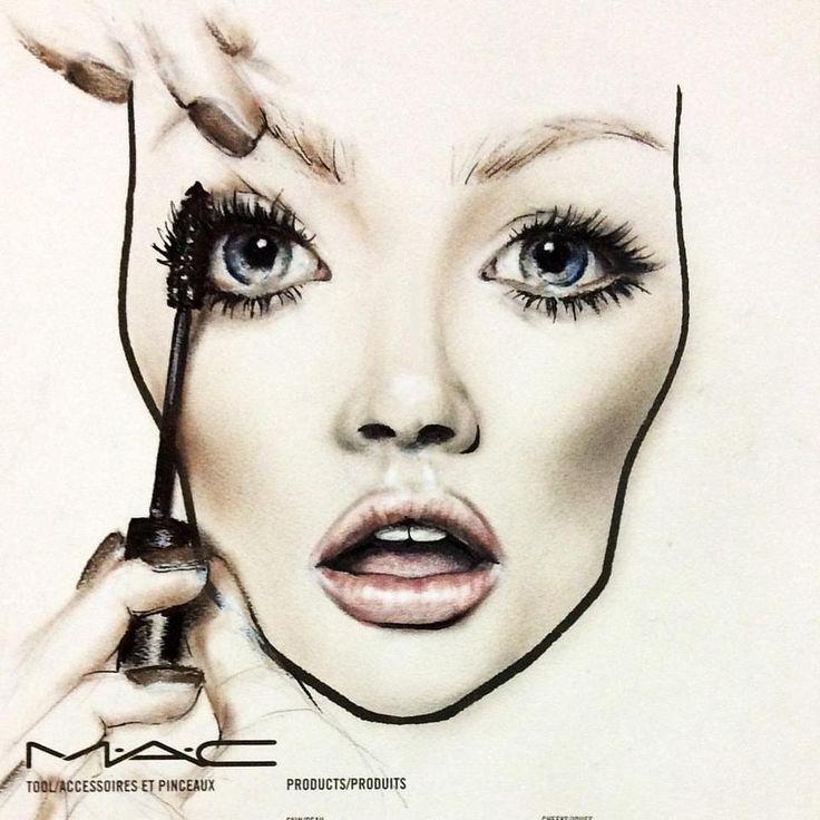 Hervorragend 7 best Face Chart images on Pinterest | Mac face charts, Make up  RB46