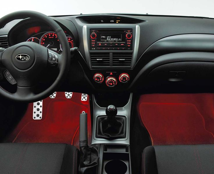 Subaru Impreza, XV 2.0 Footwell Illumination Kit RED 2012-2015